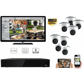 Complete kit video surveillance-All video surveillance 8 cameras night vision 2MP