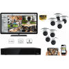 Complete kit video surveillance-All video surveillance 8 cameras night vision 2MP-KITCAN8CH2MPD-