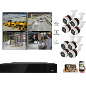 Complete kit video surveillance-Kit 8 security camera night vision 5MP cameras