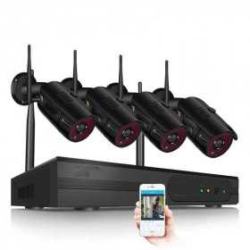 Wifi Kit-Recorder Kit 4 Wifi 1080 p H.264 cameras-AN1080P4-spy-security