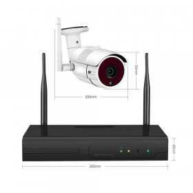 Kit wifi-Kit enregistreur 4 caméras Wifi 1080P H.264-AN1080P4-spy-security
