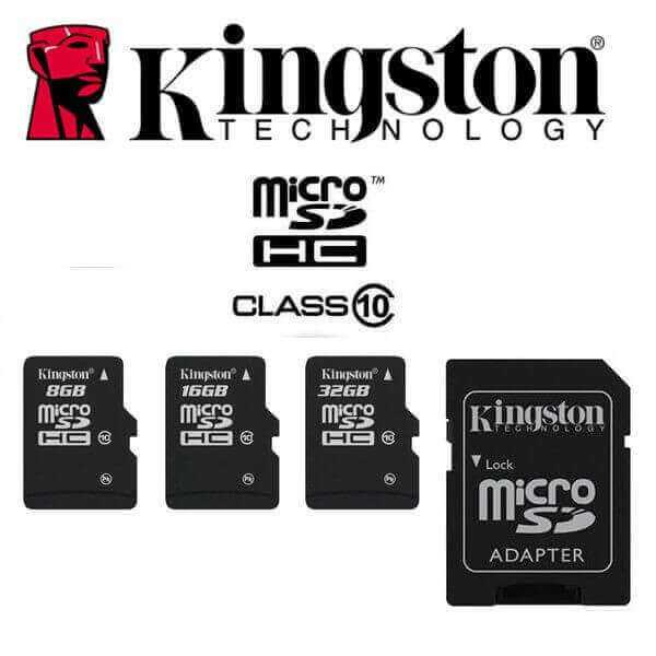 Kingston Micro SD 32GB card with its adapter