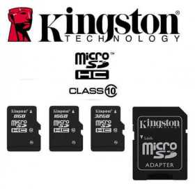 Spy cameras accessories-64GB Kingston Micro SD card with adapter-KING-SD8-