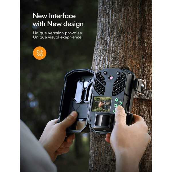 30MP 4K Hunting Camera with Night Vision, IP66 Waterproof