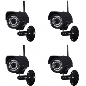 IP camera -Set of 4 outdoor Cameras IP WIFI H264 IR 20 m-HW0027X4-