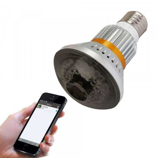 Mini wifi infrared camera bulb
