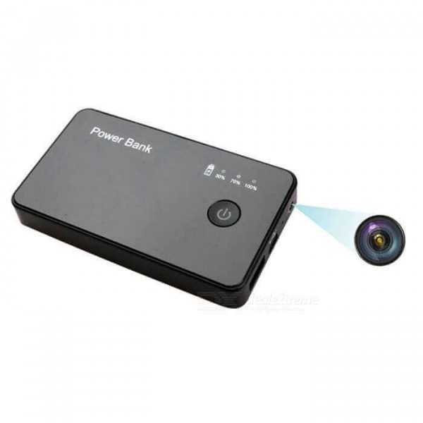 External battery with HD spy camera