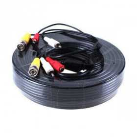 Accessories video surveillance -CCTV Cable 3 in 1 video + audio + power of 20 meters