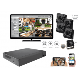 Complete kit video surveillance-All spy video H264 1.3 megapixels