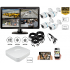 Complete kit video surveillance-Surveillance pack 2MP 4 outdoor cameras night vision H264-KIT1XVRCAN4-