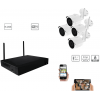 Complete kit video surveillance-Full 1080 p indoor outdoor night vision 2MP wifi Kit-KITWIF41080P-